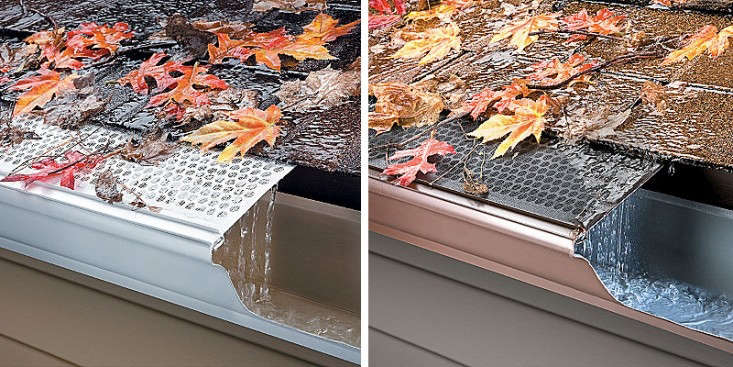 Mesh Gutter Leaf Guards snap into place on existing vinyl gutters and prevent a buildup of leaves and debris in your gutters. See 5 Favorites: Gutter Guards.