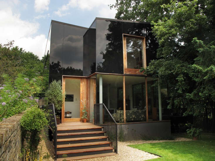 Architect Ian McChesney faced many challenges south London, including stringent zoning requirements and 68 objections from residents ina neighborhood ofVictorian stucco and brick. In the end, the neighbors probably like what they see; it's mainly a reflection of their own homes. Mirror Househas an opaque glass facade that projects images of the surroundings.Photograph courtesy of The Modern House.