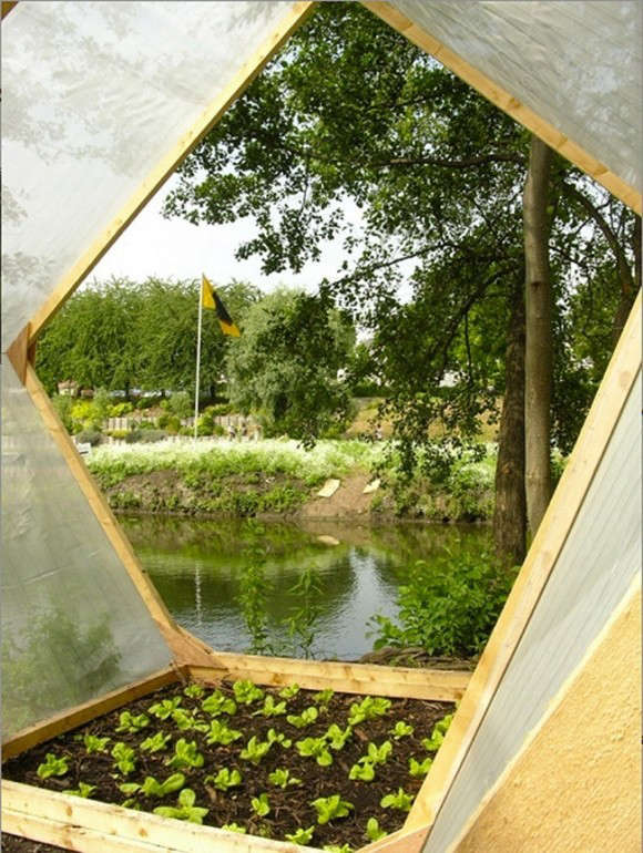 Floating islands; garden beds of rare lettuces by French landscape architects AtelierAltern.