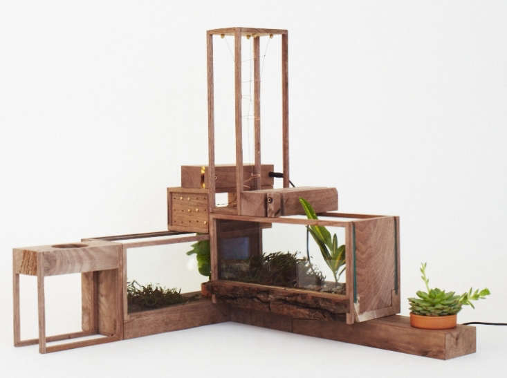 Bui&#8\2\17;s latest series of MINI planters are built in such a way that they can be stacked together to make larger structures. A single Mini \2 Steel Terrarium is \$\275 from Home Made.