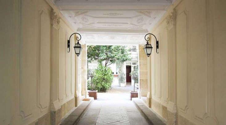 A peek inside a secret courtyard in Paris, hidden behind closed doors; see more inPrivate Paris: 7 Secret Gardens in the City of Love.Photograph courtesy ofA+B Kasha.