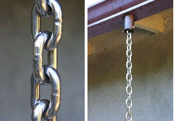 Stainless steel link style rain chains