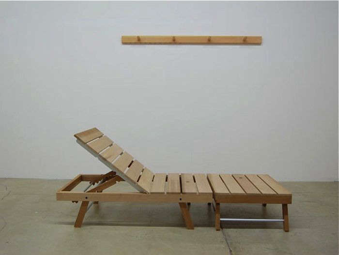 The lounge chair, a Studio Gorm prototype developed in \20\1\1, has an adjustable backrest.