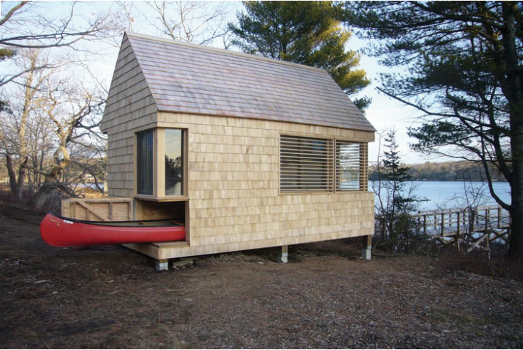 Mainers are apt to opt for the paddle-it-yourself sort of boat (unless it&#8\2\17;s a lobster boat). All the more reason to devise a smart storage solution. When I was little, my dad built a two-in-one log shed that could accommodate three kayaks on the back. Or, take this solution fromOutbuilding of the Week: A \190-Square-Foot Writer's Studio in Maine, with a canoe tucked beneath the waterside cabin.