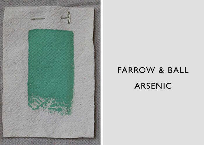 Farrow & Ball's Arsenic is a bright jade