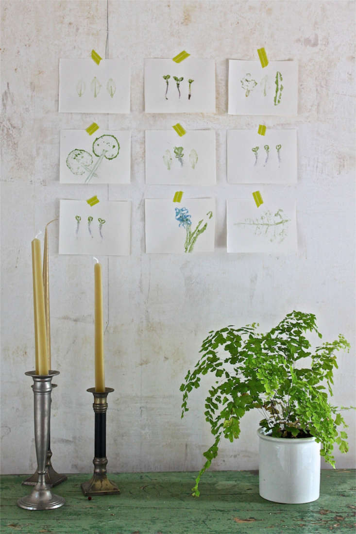 Our final prints, arranged on the dining room wall, make a charming and extemporaneous homage to spring.