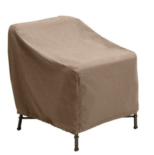 Above: Protective covers are often available for specific lines of furniture, such as Brown Jordan&#8\2\17;s Lounge Chair Cover, for an exact fit. Inexpensive generic outdoor furniture covers are also plentiful through Amazon, Home Depot, Lowe&#8\2\17;s, and other furniture retailers. Photograph via Amazon.