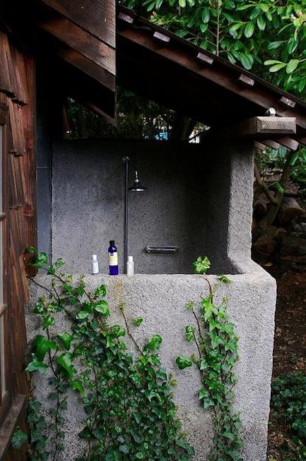 Outdoor showers Manka's Inverness, California