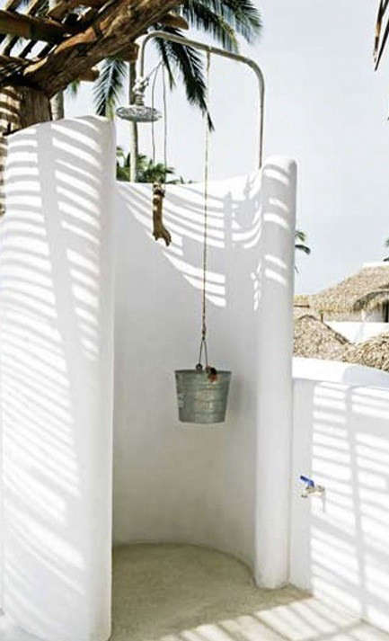 Outdoor showers Veracruz Mexico