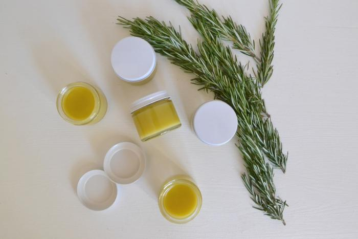 The final result: lemon-yellow salve to ward off insects on your next outdoor hike.
