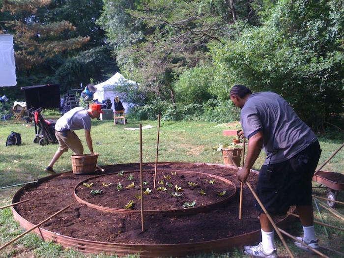 Production Designer Sharon Lomofsky shares garden photos from Frank + Robot.