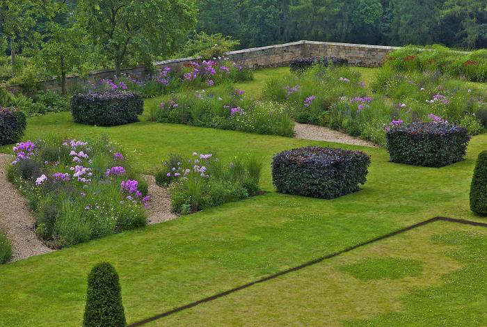 Arne Maynard garden at Bowling Green, Haddon, Derbyshire