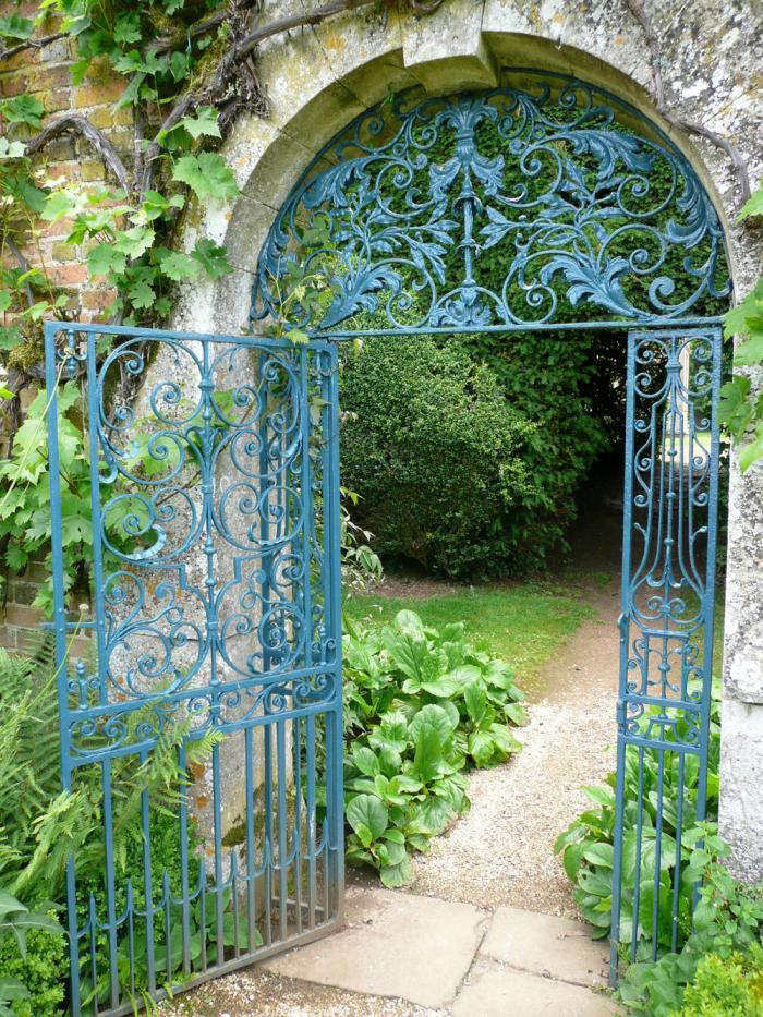 A glorious gate in the garden at Rousham, near Oxford. &#8
