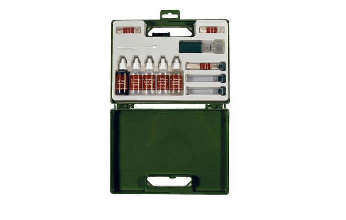 A Soil Test Kit in a sturdy plastic case is $.95 from Home Science Tools.