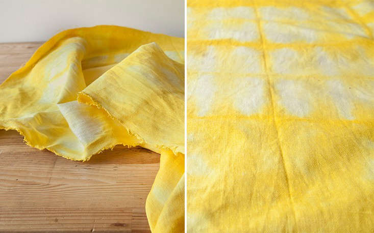 Step 8: Let the fabric dry overnight. Here&#8\2\17;s the finished cloth, brightening my kitchen table.