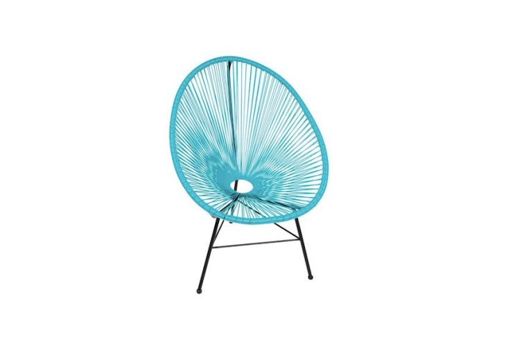 AnAcapulco Wire Basket Papasan Chair resembles a hammock. Expected back in stock on October \1, it is \$\249.99 from All Modern.