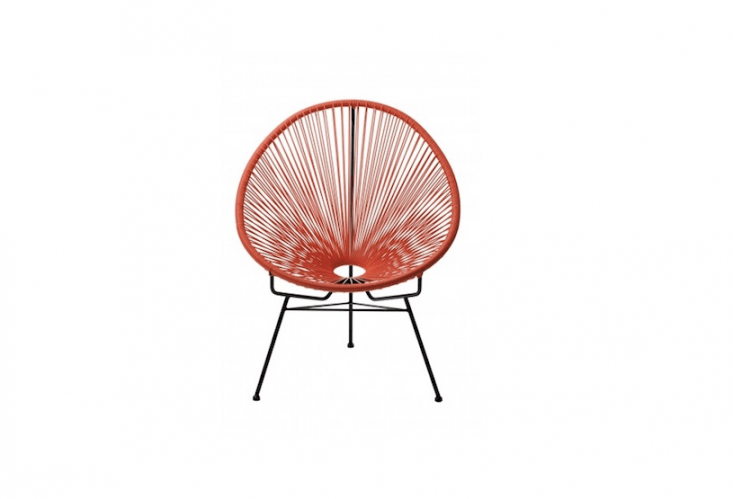 An orangeReplica Acapulco Chair is \$\1\19 from Replica Furniture.