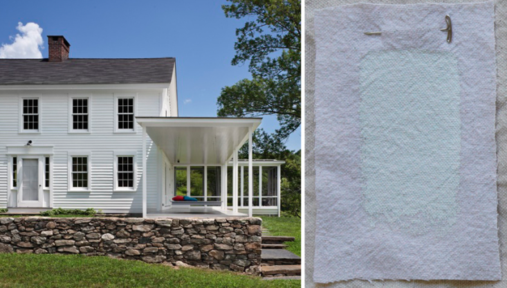 For this house in Connecticut, Brooklyn&#8\2\17;sO&#8\2\17;Neill Rose Architects used low-luster Benjamin Moore Brilliant White, which principal Devin O&#8\2\17;Neill calls &#8\2\20;a standard that always looks good.&#8\2\2\1; The firm worked with Donald Kaufman on the palette for the house and chose Donald Kaufman Color DKC-44 in semi-gloss for the porch and ceiling.