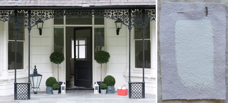 SF Bay Area designerNicole HollischoseFarrow & Ball All Whiteas her pick—the whitest white of our recommendations. In this image from Farrow & Ball, the door and metalwork are painted inPitch Black.