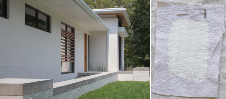 Nashville architect Marcus DiPietrochosePPG Porter Paints Atrium Whitefor the exterior of this modern, Japanese-influenced homein Oak Hill, Tennessee. Next to Linen White (further below), Atrium White is the second warmest of the bunch.