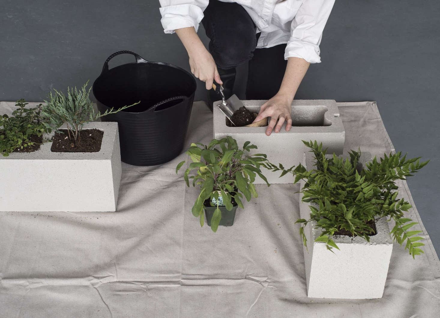For step-by-step instructions to make DIY cinderblock planters, see our Gardenista Book.