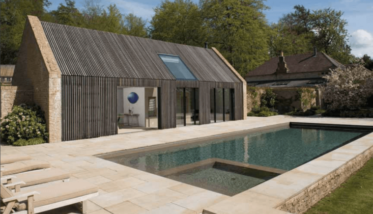 Duntisbourne House pool house for sale by Savills