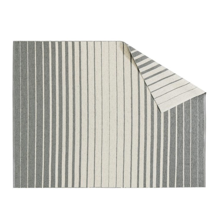 Nordic Nest&#8\2\17;s Fade Rug, shown here in gray, is made in Sweden from plastic and polyester; \$346 for the \150 by \200 centimeter size.