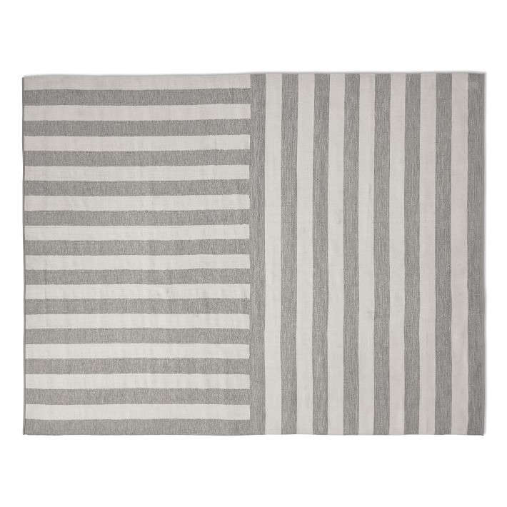 Another Perennials product, the Donovan Stripe Indoor Outdoor Rug (shown in gray) is currently on sale at Williams Sonoma Home for $796 to $