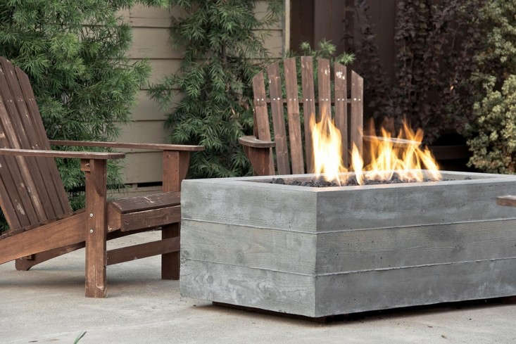 A concrete Buckshot Firepit is available in five sizes and four finishes; \$3,050 to \$5,600 at Concrete Wave. For more, see Hardscaping \10\1: Poured-in-Place Concrete.