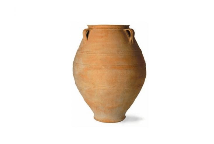 oil jar terra cotta rainwater collection garden urn