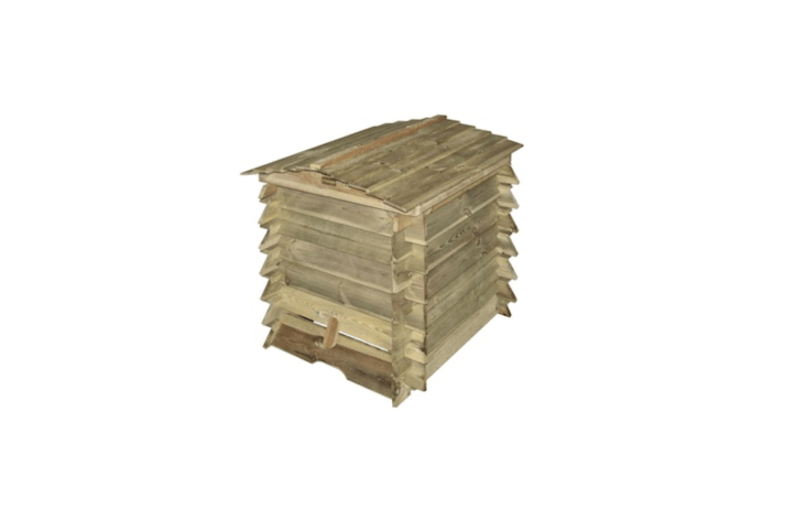 Pressure-treated to prevent rot, aBeehive Composter by Rowlinson has a removable bottom tray to make it easy to access compost. It is \$\265.96 from Sheds.com.