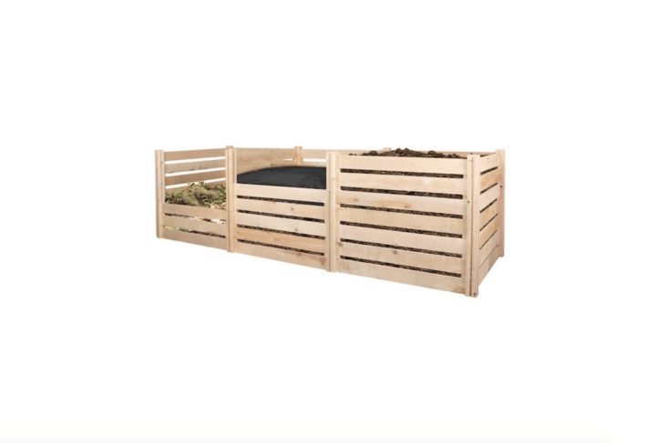 A compost bin from Greene&#8\2\17;s Fence (see above, under single bins) can be customized with a three-sided Cedar Wood Composter Add-On Kit; \$\106.99 each.