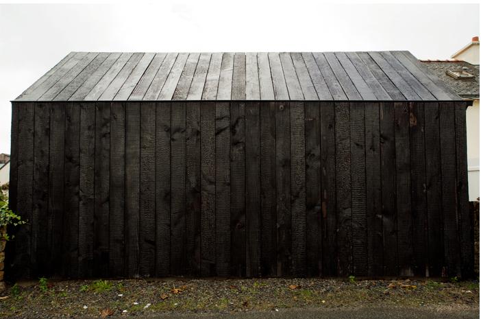 NeM charred wood cottage Brittany ; Gardenista