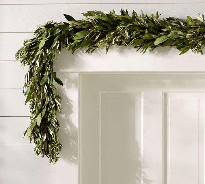 live-olive-leaf-myrtle-garland-pottery-barn