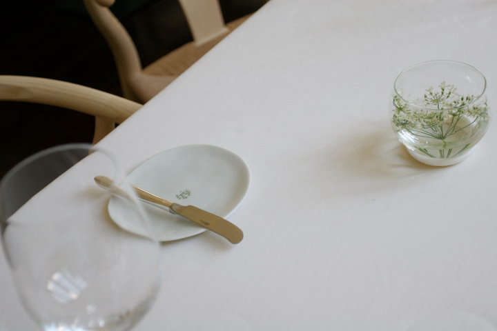 One from the archives: a simple sprig of Queen Anne&#8\2\17;s lace atBouchery in Brussels: The Prettiest Restaurant in Belgium?, published in \20\16 on Remodelista.