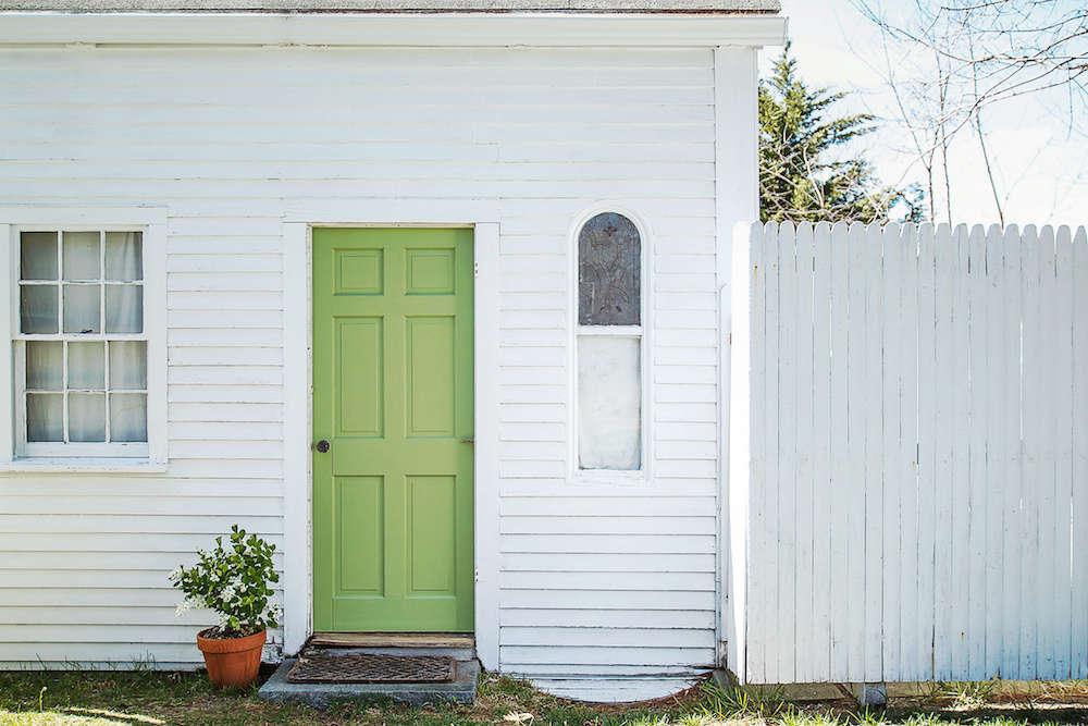 Door in Yeabridge Green from Farrow & Ball | Remodelista