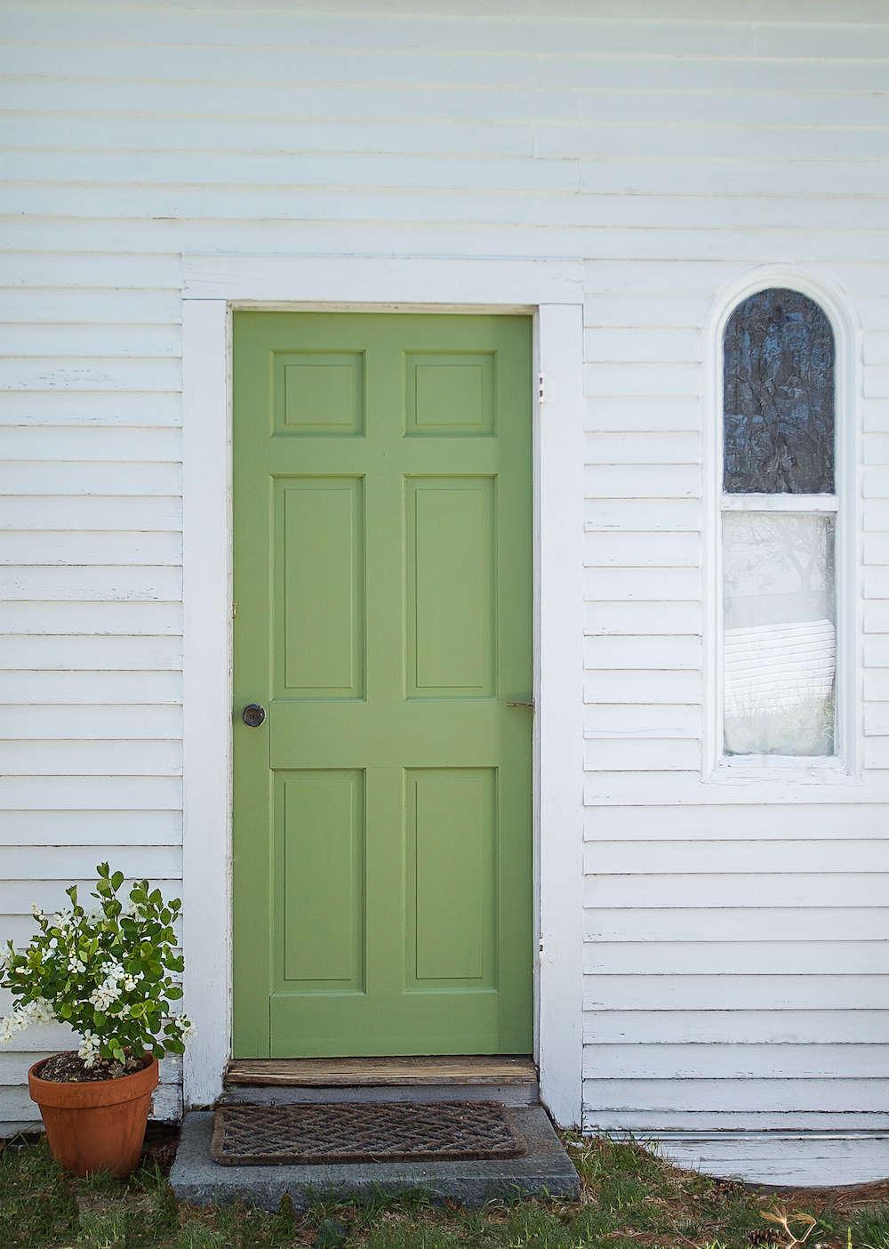 Door in Yeabridge Green by Farrow & Ball | Remodelista