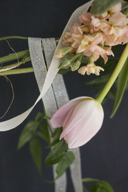 Designskool, Studio Carta collabl garland, pink tulip detail