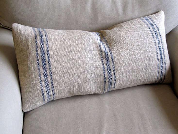 blue-grain-sack-bolster-pillow-gardenista