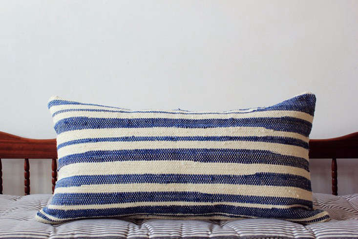 blue-stripe-throw-pillow-bolster-gardenista