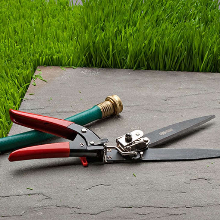 With a handle that rotates 90 degrees, a pair of Grass Trim-Shearsmade in Italy can cut &#8