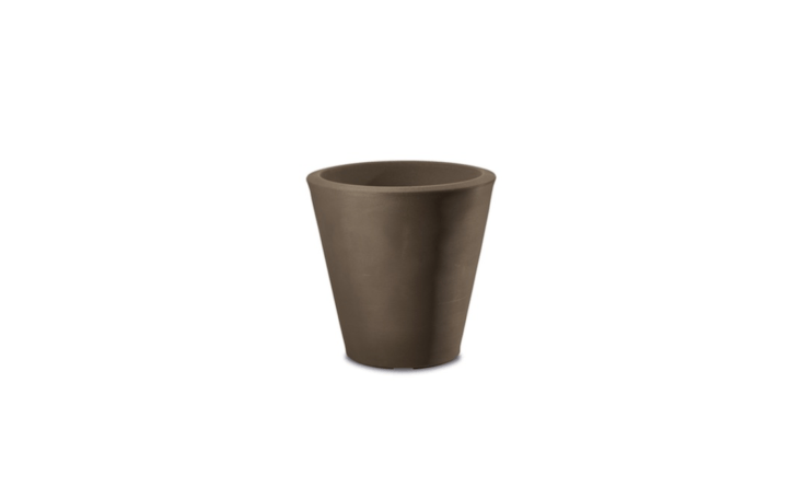 Made of a lightweight polymer resin, a Madison Planter is available in five sizes from \14 to 34 inches; from \$50 to \$497 depending on size from Urbilis.