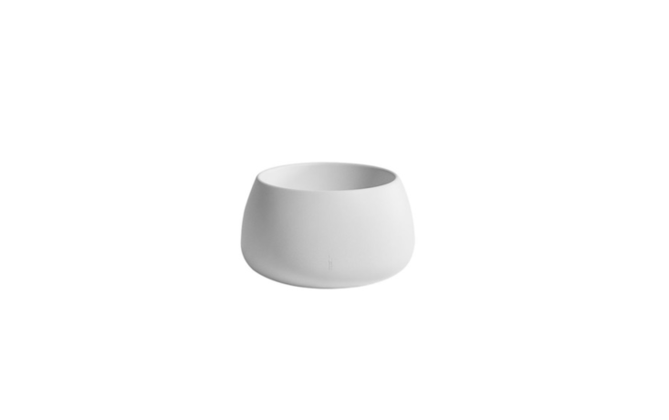 From Spain-based Gandia Blasco, a Sahara Planter is made of molded recyclable polyethylene and is available in various sizes at prices ranging from \$550 to \$750 depending on size from Y Lighting.