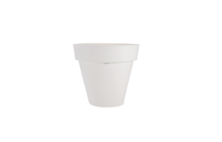 An oversize Vas-One Pot designed by Luisa Bocchietto made ofrecyclable polyethylene is four feet tall and currently on sale for \$7\20 from DWR.
