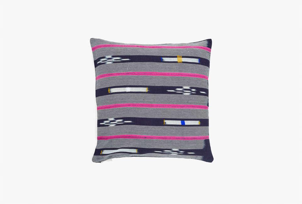 ABC Home DNA Indigo and Pink Throw Pillow