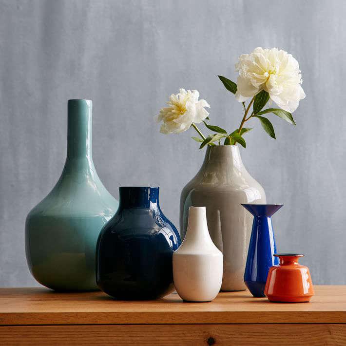 enamel-vases-blue-white-orange-gardenista