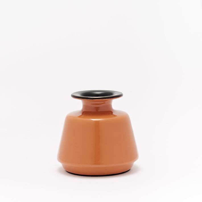 enamel-vases-orange-gardenista