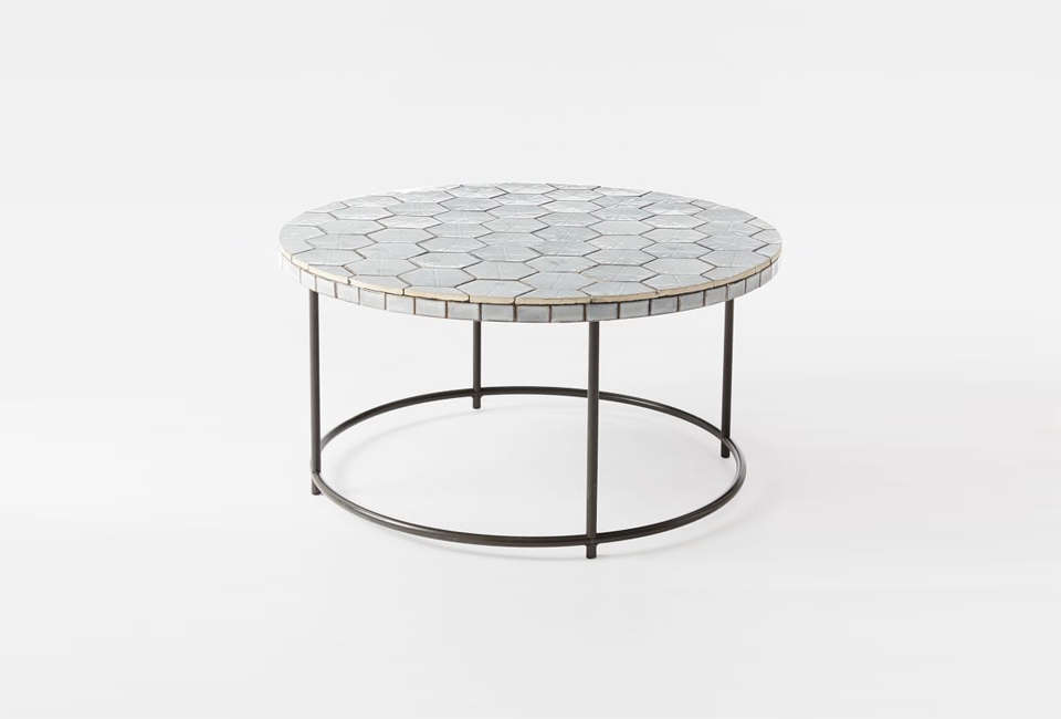 Mosaic Tiled Side Table