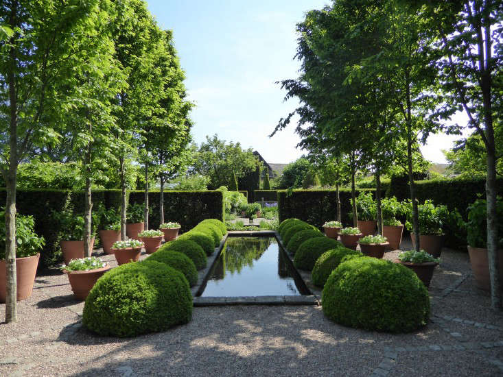 wollerton-garden-rill-pond-potted-trees-gardenista