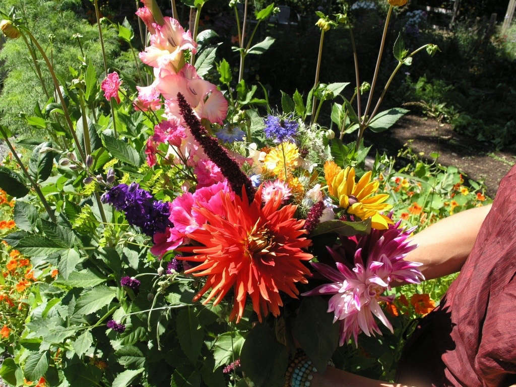 Bright bouquet Gardenista by Sylvia Linsteadt